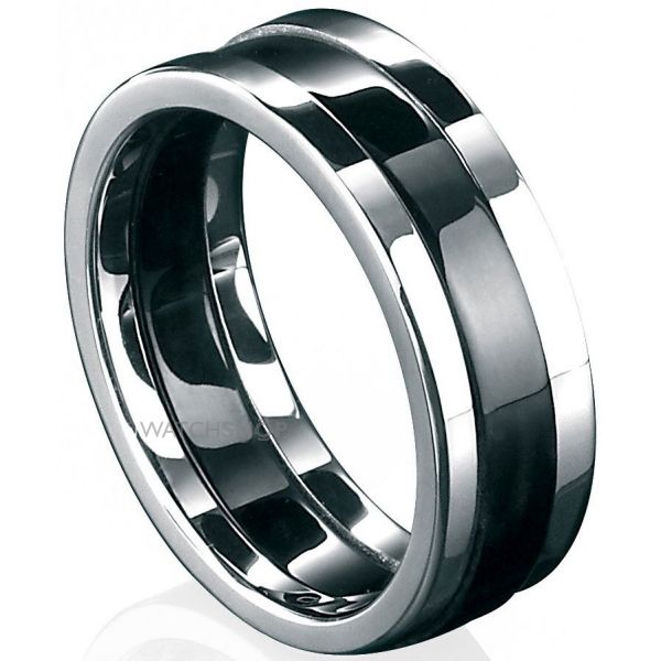 Mens Fred Bennett Stainless Steel Ring Size T R2727-62
