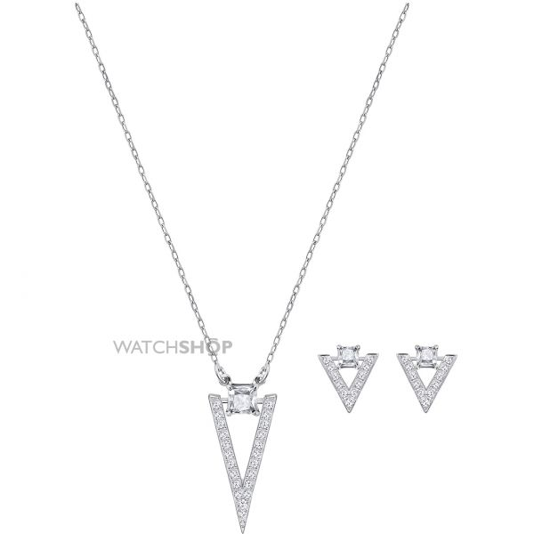 Ladies Swarovski Rhodium Plated Funk Gift Set 5253052