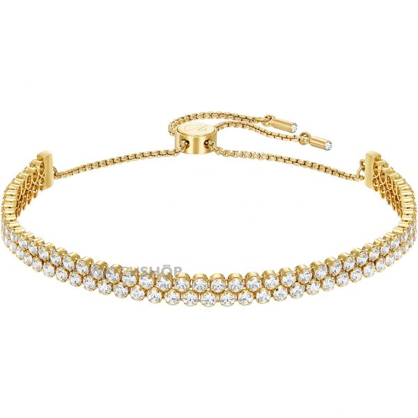 Ladies Swarovski Gold Plated Subtle Bracelet 5245530