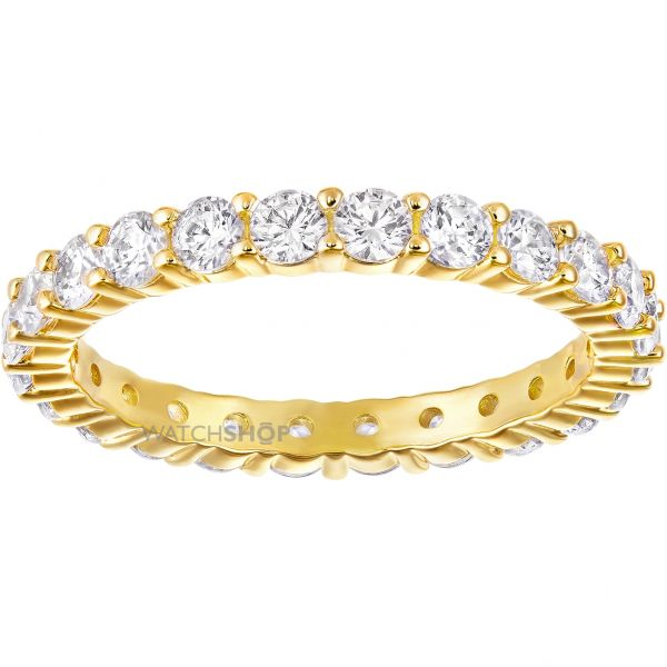 Ladies Swarovski Gold Plated Size N Vittore Ring 5240577