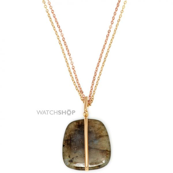 Ladies Lola Rose Gold Plated Labradorite Bassa Necklace 597227