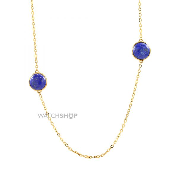 Ladies Lola Rose Gold Plated Lapis Lazuli Nerio Mini Station Necklace 582551