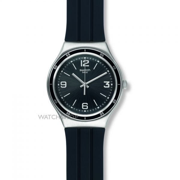 Unisex Swatch Shiny Black Watch YGS132