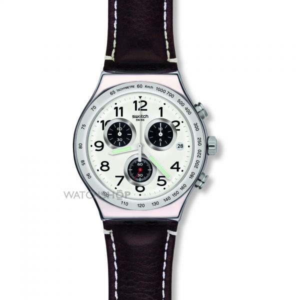 Mens Swatch Destination Hamburg Chronograph Watch YVS432