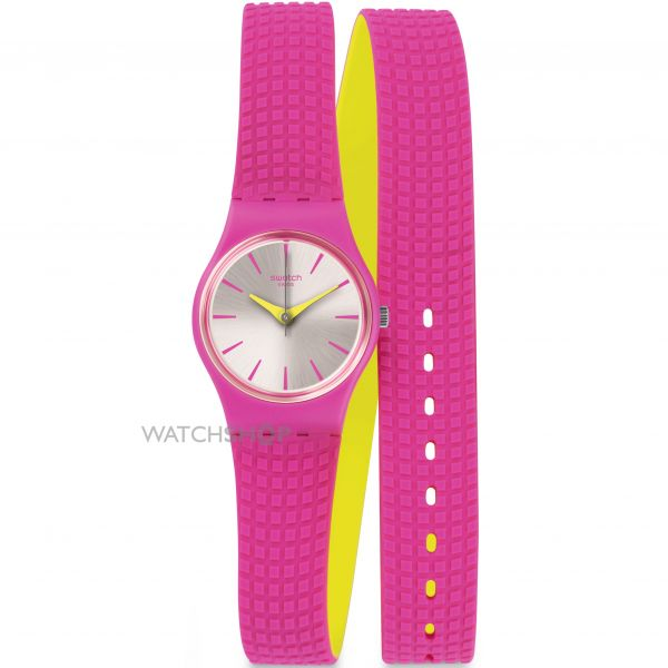 Ladies Swatch Ficcorossa Watch LP143