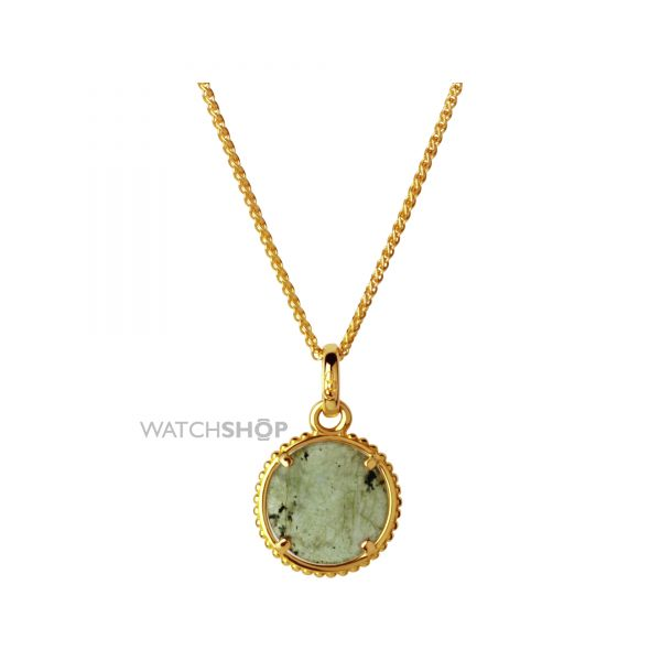 Links Of London Jewellery Ladies Sterling Silver Amulet Labradorite Pendant Necklace 5020.3253