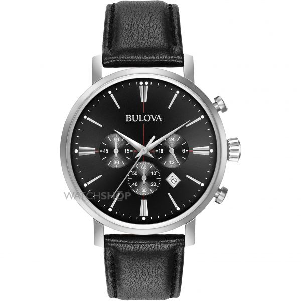 Mens Bulova Aerojet Chronograph Watch 96B262