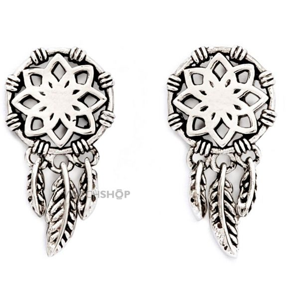 Ladies Chrysalis Silver Plated Protection Charmed Dream Catcher Earrings CRET0208SP