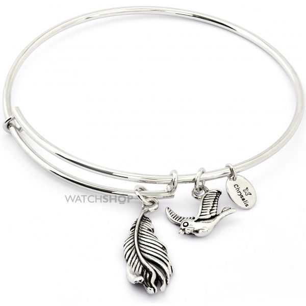 Ladies Chrysalis Silver Plated Happiness Spirited Virtue Expandable Bangle CRBT1209SP