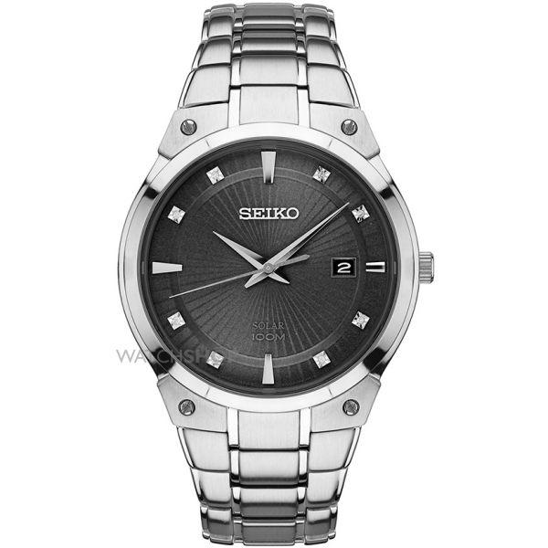Mens Seiko Solar Powered Watch SNE429P9