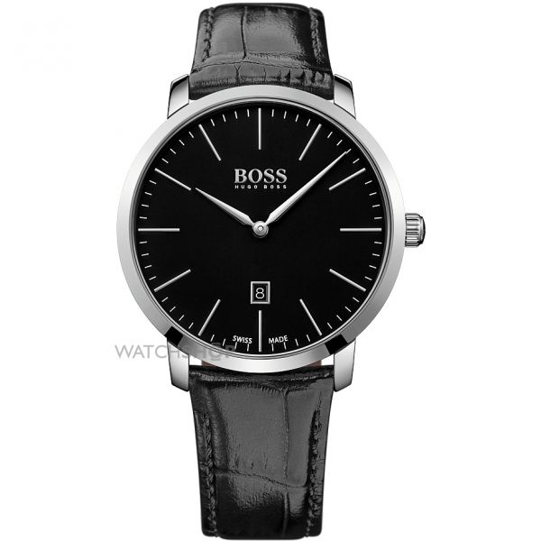 Mens Hugo Boss Swiss Made Slim Watch 1513258