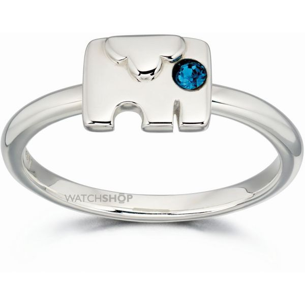 Ladies Orla Kiely Sterling Silver Crystal Set Elephant Ring R3495-52