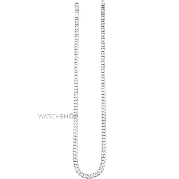 Ladies Elements Sterling Silver Curb 50cm Necklace N3838