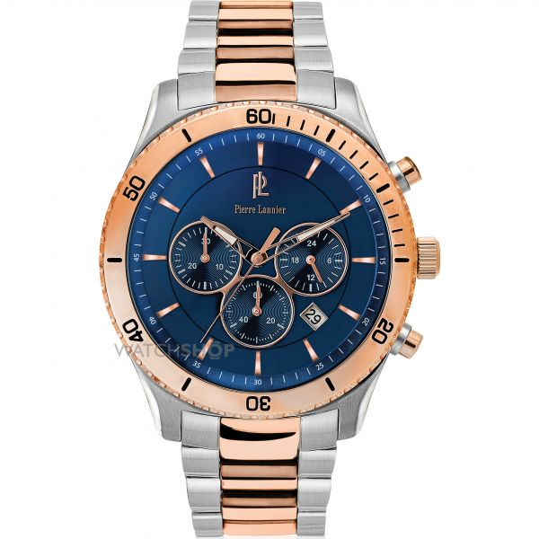 Mens Pierre Lannier Week End Chrono Chronograph Watch 201D061