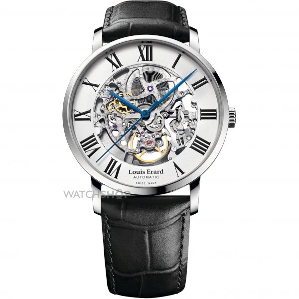 Mens Louis Erard Excellence Skeleton Automatic Watch 61233AA22.BDC02