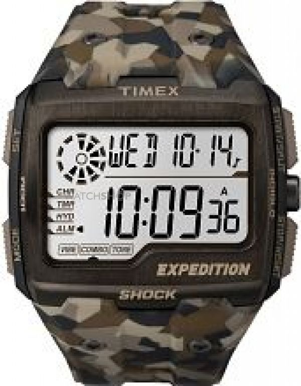 Mens Timex Expedition Grid Shock Alarm Chronograph Watch TW4B07300