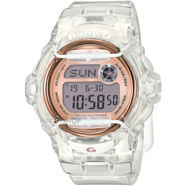 Ladies Casio Baby-G Alarm Chronograph Watch BG-169G-7BER