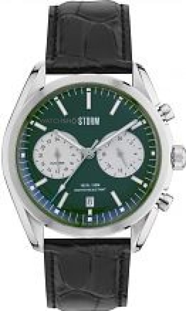 Mens STORM Trexon Chronograph Watch TREXON-LEATHER-GREEN