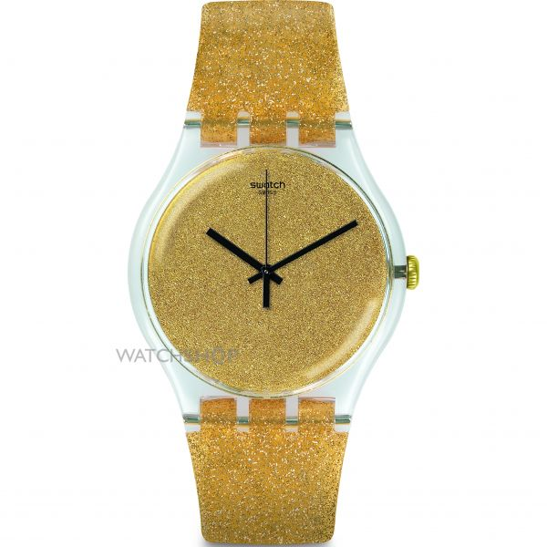 Unisex Swatch Nuit Doree Watch SUOK122