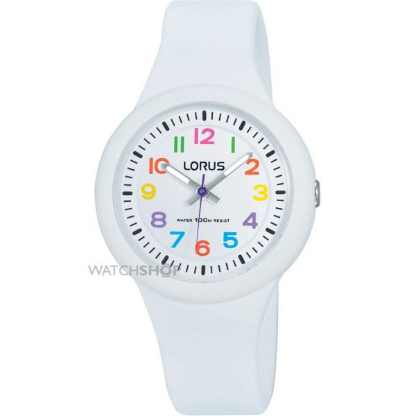 Childrens Lorus Soft white silicone strap Watch RRX43EX9