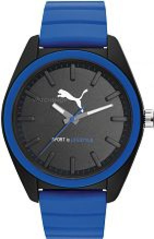 Mens Puma PU91124 MATCHPLAY - black blue Watch PU911241006