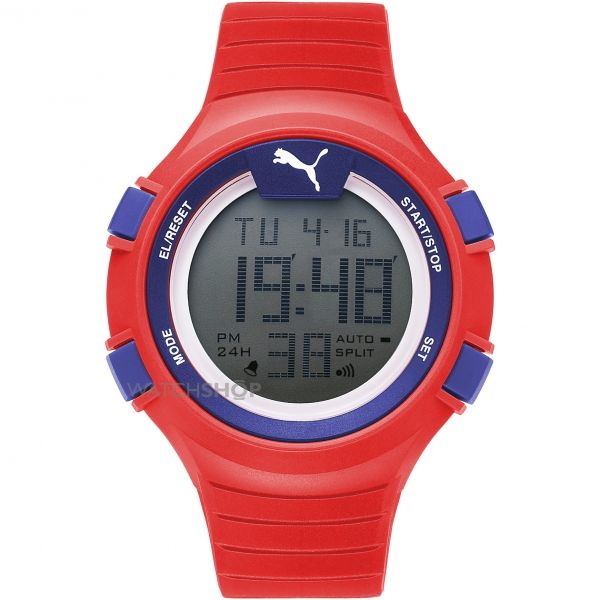 Unisex Puma PU91126 FAAS 100 S - red blue Alarm Chronograph Watch PU911261005