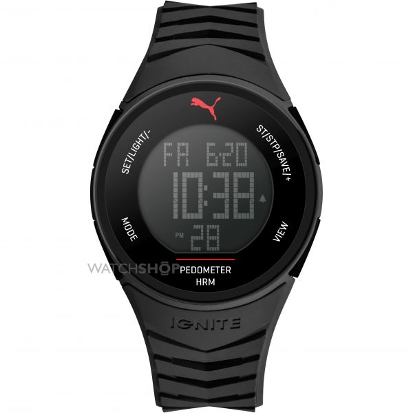 Unisex Puma PU91135 IGNITE - black Alarm Chronograph Watch PU911351003