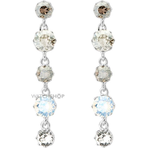 Ladies Ted Baker Silver Plated Caralee Crystal Crown Long Earring TBJ1315-01-230