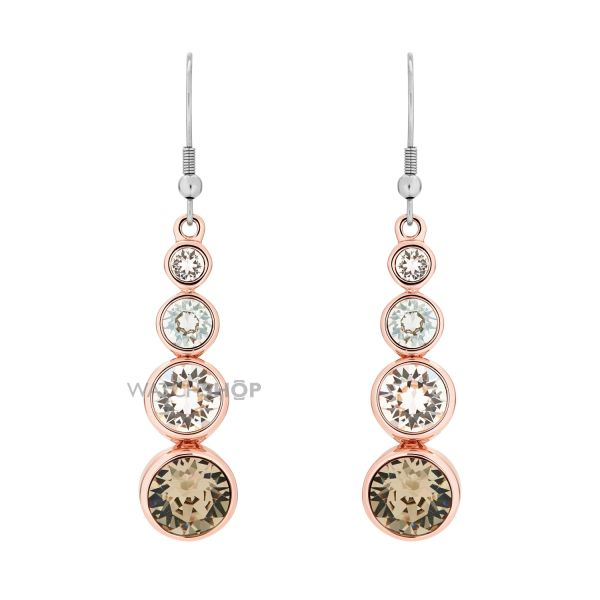Ladies Karen Millen Crystal Drop Earrings KMJ047-24-161