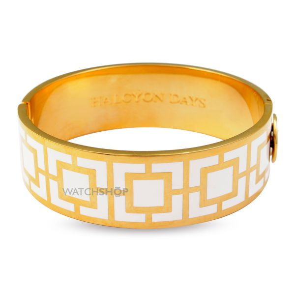 Ladies Halcyon Days Gold Plated Maya Bangle HBMAY0520G