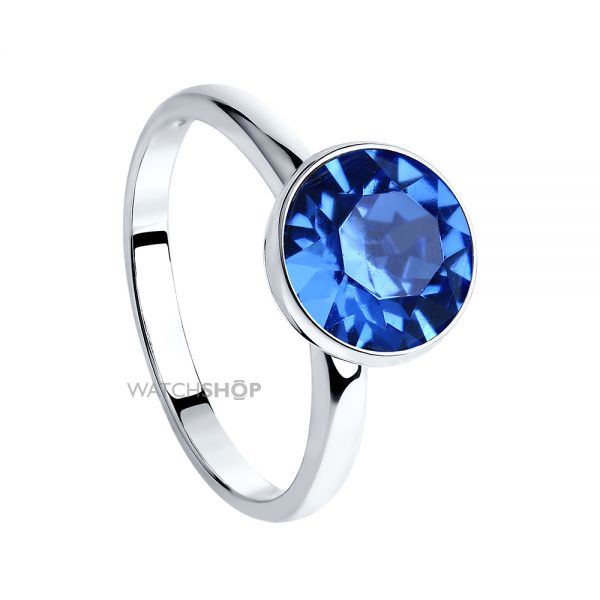 Ladies Sokolov Sterling Silver Express Yourself Blue Crystal Ring Size N 94011939