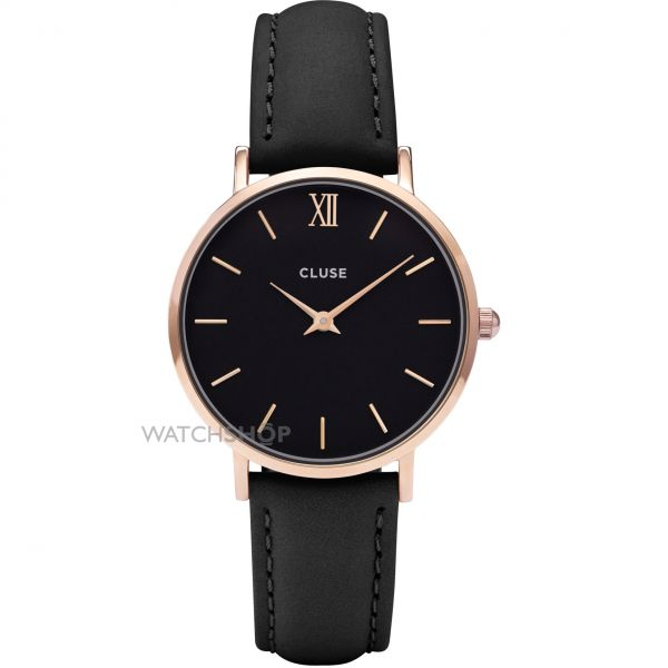 Ladies Cluse Minuit Leather Watch CL30022