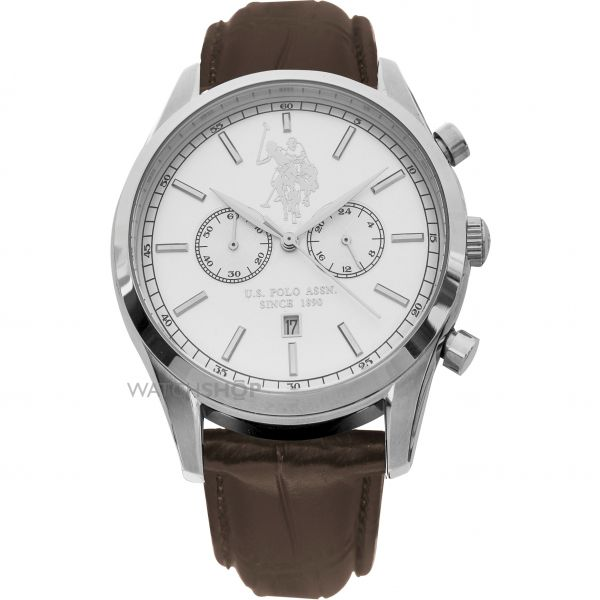 Mens US Polo Association Chronograph Watch USP4409WH