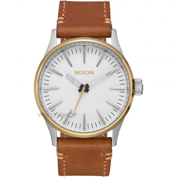 Mens Nixon The Sentry 38 Leather Watch A377-2548