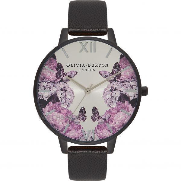 Ladies Olivia Burton After Dark Floral Butterfly Print Watch OB16AD10