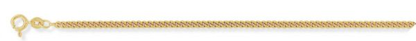 Diamond-Cut Tightly-linked Classic Curb Chain 18/45cm