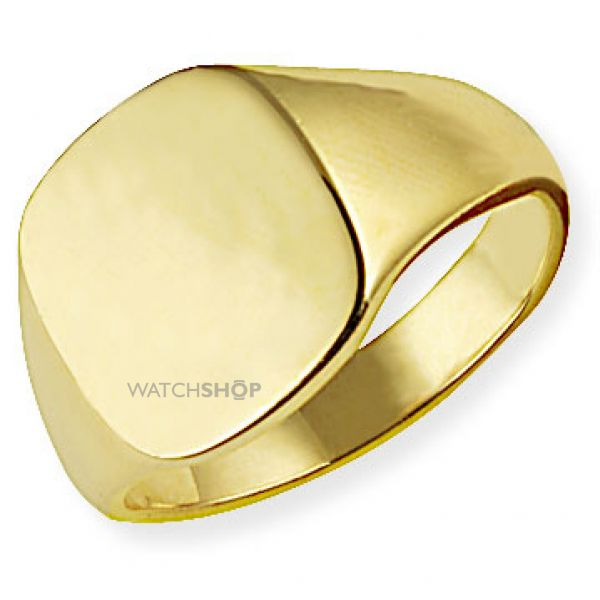 Classic Oxford Cushion  Signet Ring Size T