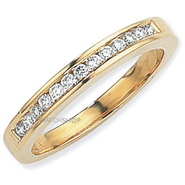 0.25ct tw VS Brilliant-cut Half Eternity Diamond Ring Size P