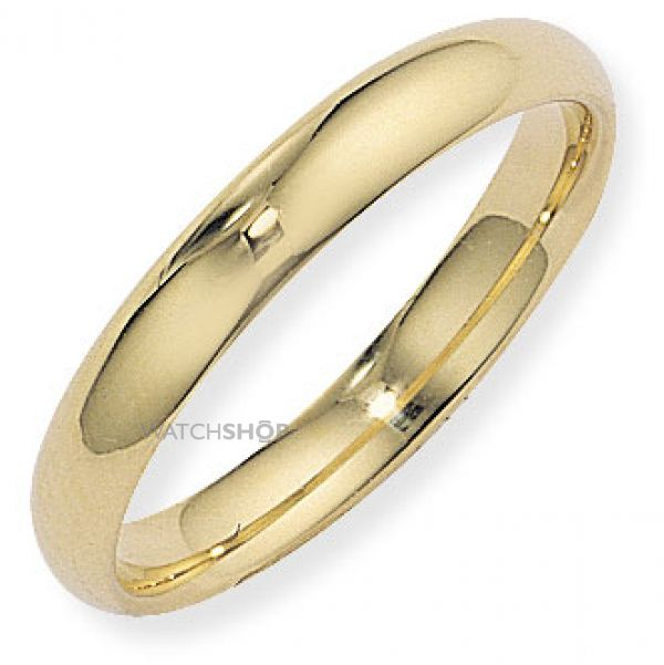 4mm Court-Shaped Band Size Q
