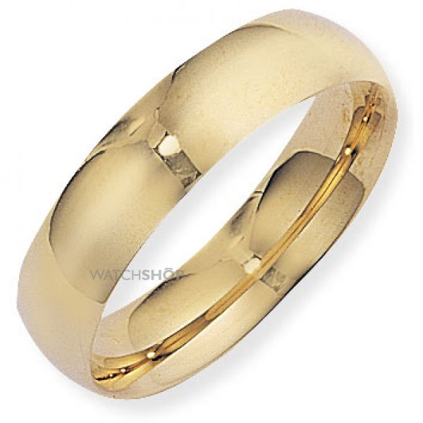 6mm Court-Shaped Band Size M