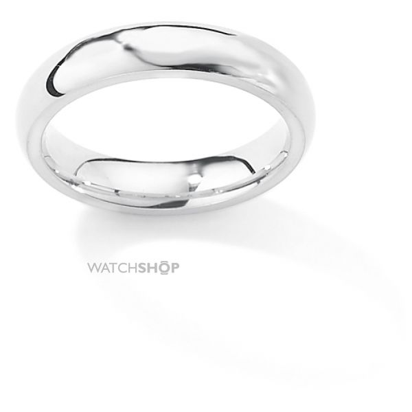 White Gold 4mm Premium Court-Shaped Band Size U