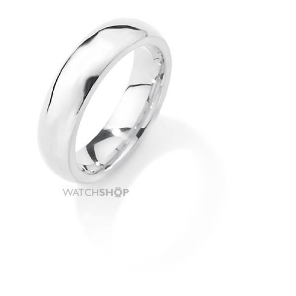 White Gold 5mm Premium Court-Shaped Band Size L
