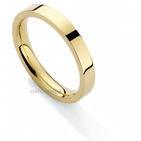 3mm Heavyweight Flat Court-Shaped Band Size Q
