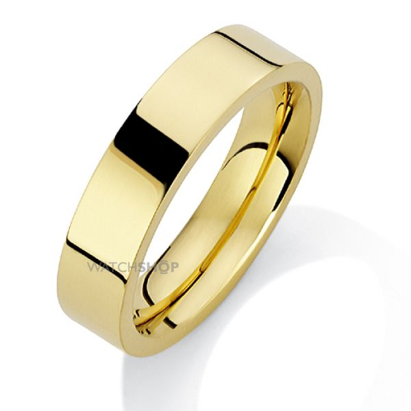 5mm Premium Flat Court-Shaped Band Size X