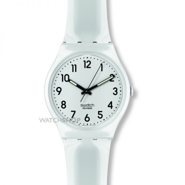 Ladies Swatch Just White Watch GW151