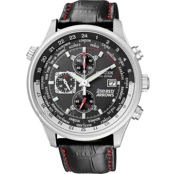Mens Citizen Red Arrows World Time Chronograph Watch CA0080-03E