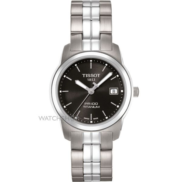 Ladies Tissot PR100 Titanium Watch T0493104405100