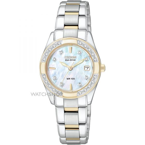 Ladies Citizen Regent Diamond Eco-Drive Watch EW1824-57D
