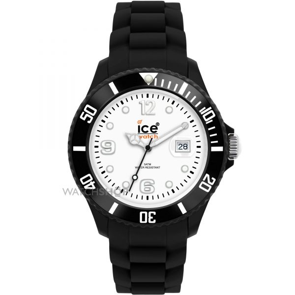 Mid-size Ice-Watch Ice-White Black Mid Watch SI.BW.U.S
