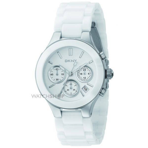 Ladies DKNY Chambers Ceramic Chronograph Watch NY4912